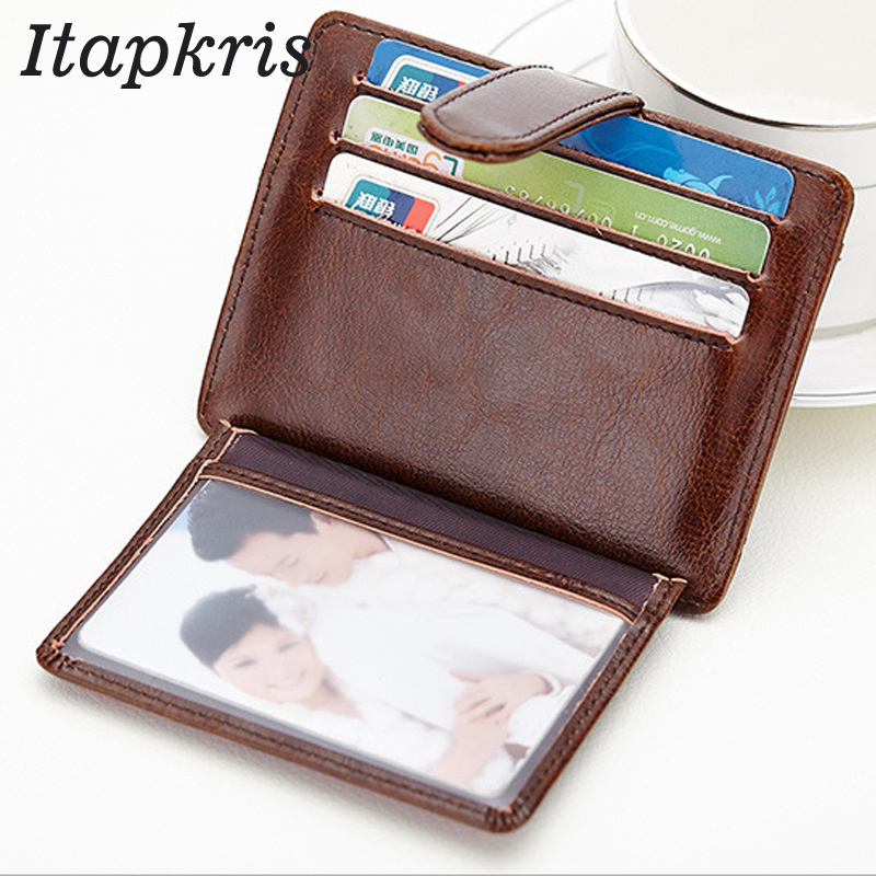 Itapkris Men Leather Bank Credit Card Holder Case Multi-card Organizer Coin Pocket Rfid Wallet Travel Driver License Porte Carte 2018 pu leather unisex business card holder wallet bank credit card case id holders women cardholder porte carte card case