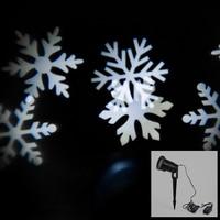 XMAs IP65 Waterproof Laser Light Landscape Projector Lighting Festival Decoration White Snow LED Moving Snowflakes Spotlight