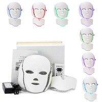 7 Colors Light LED Facial Mask Skin Rejuvenation Face Care Treatment Beauty Instrument Anti Acne Therapy