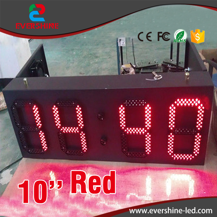 Red Color Outdoor Weatherproof Down Timer Clock LED Sign Display for 10 inch hd high quality led gas price display sign outdoor led billboard green color 12 outdoor led display screen