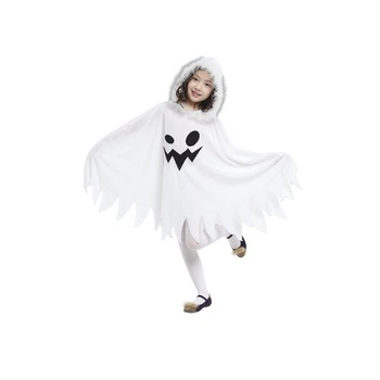 Child Kids Toddlers White Ghost Cloak Halloween Costumes  1