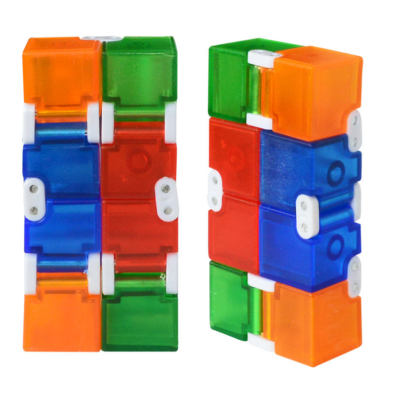 New Colorful Plastic Infinity Cube For Stress Relief Anti Anxiety Stress Funny  EDC Toys for