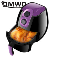 DMWD Multifunction Electrc Fryer French Fries Deep Frying Machine Oilless Chicken Oven Steak Grill Non stick Cake Maker Bakeware