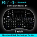 Rii mini i8 + K08 + Teclado Bluetooth inalámbrico con Touchpad ratón retroiluminado Gamer Teclado para PC portátil HTPC Andorid / Smart TV