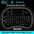 Rii mini i8 + K08 + Teclado Bluetooth sem fio com Touchpad rato retroiluminado Gamer Teclado para PC portátil HTPC Andorid / Smart TV Box