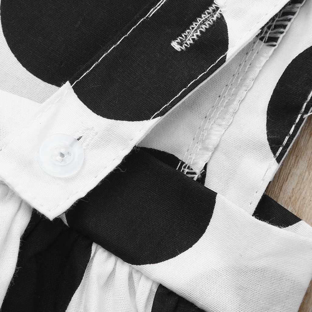 Đầm thời trang Đáng Yêu Đen Trắng Chấm bi Hở Lưng Cổ Trẻ Em Bé Gái Bay Tay Mùa Hè Tổng Thể Đầm Công Chúa Quần Áo