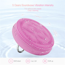 USB Silicone Beauty Face Cleanser Washing Massager Brush Hand Ring Waterproof Charging Cleansing Instrument Facial Skin Care 45(China)