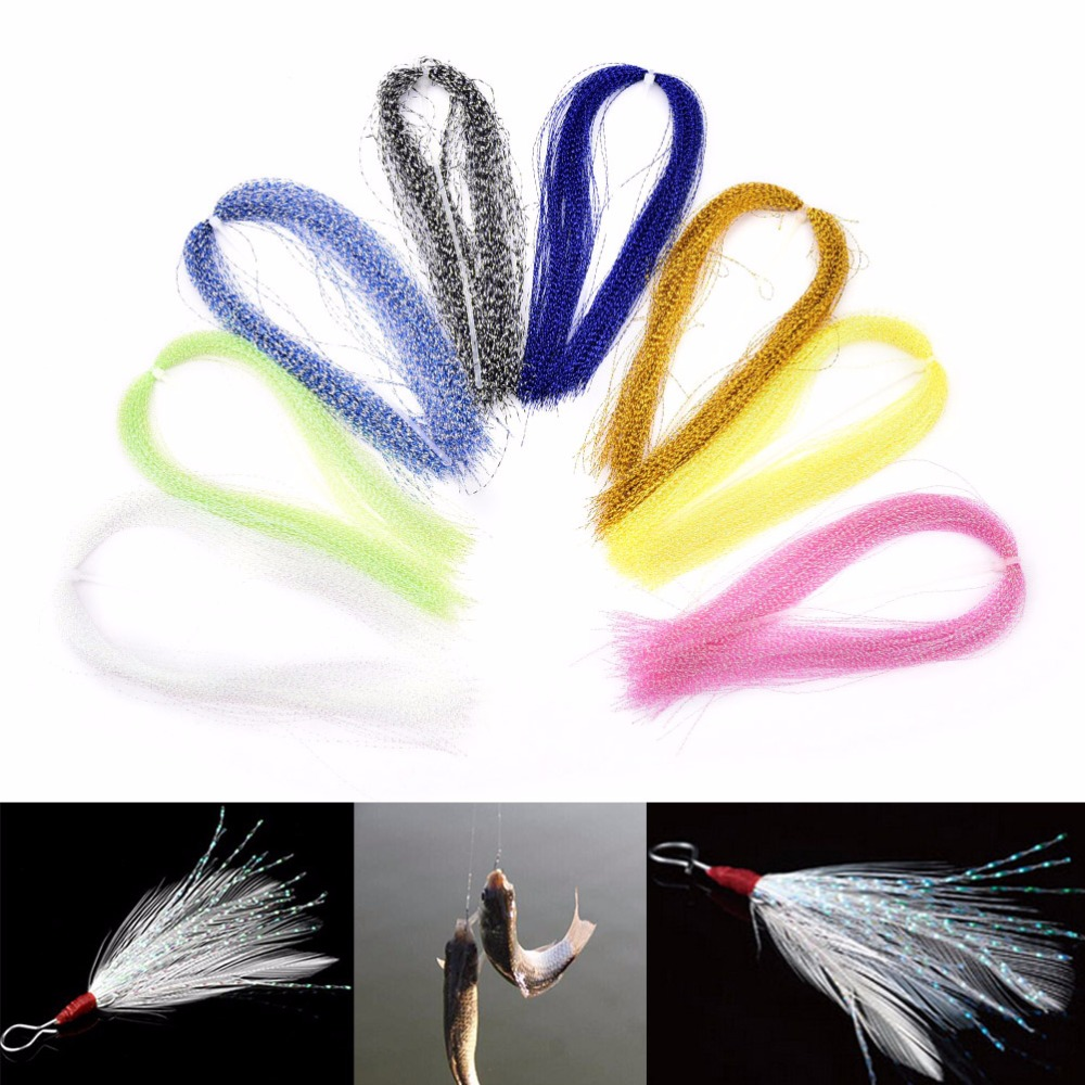 New 150Pcs/Bag Crystal Flash Fly tying material Krystal Fishing Lure Tying Making