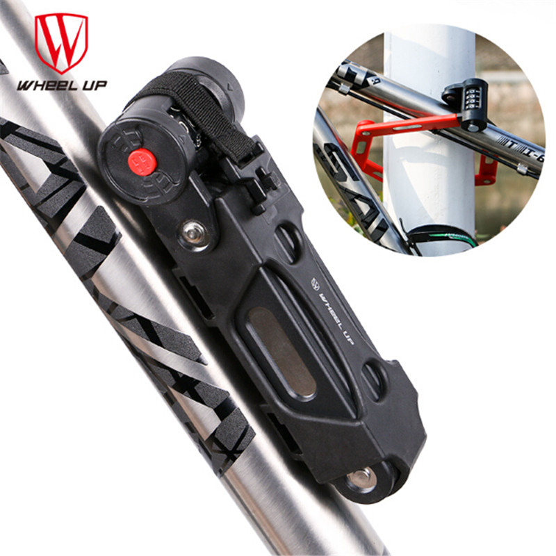 WHEEP UP Folding Bicycle Lock Bike Lock Anti theft Alloy Steel Chain Anti shear Security 12 ton Hydraulic Cutter Candado-in Bicycle Lock from Sports & Entertainment    1