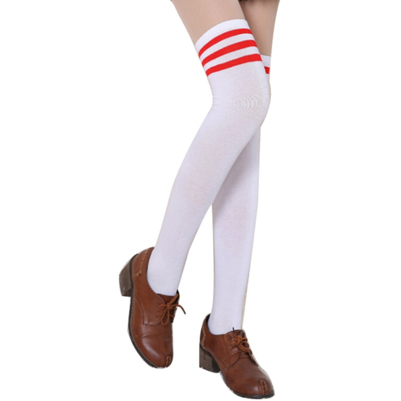 cf4d2f12e42c0 Socks Women Girl Stripe Stripy Over The Knee Thigh High Stocking Knit Thick Long  Socks