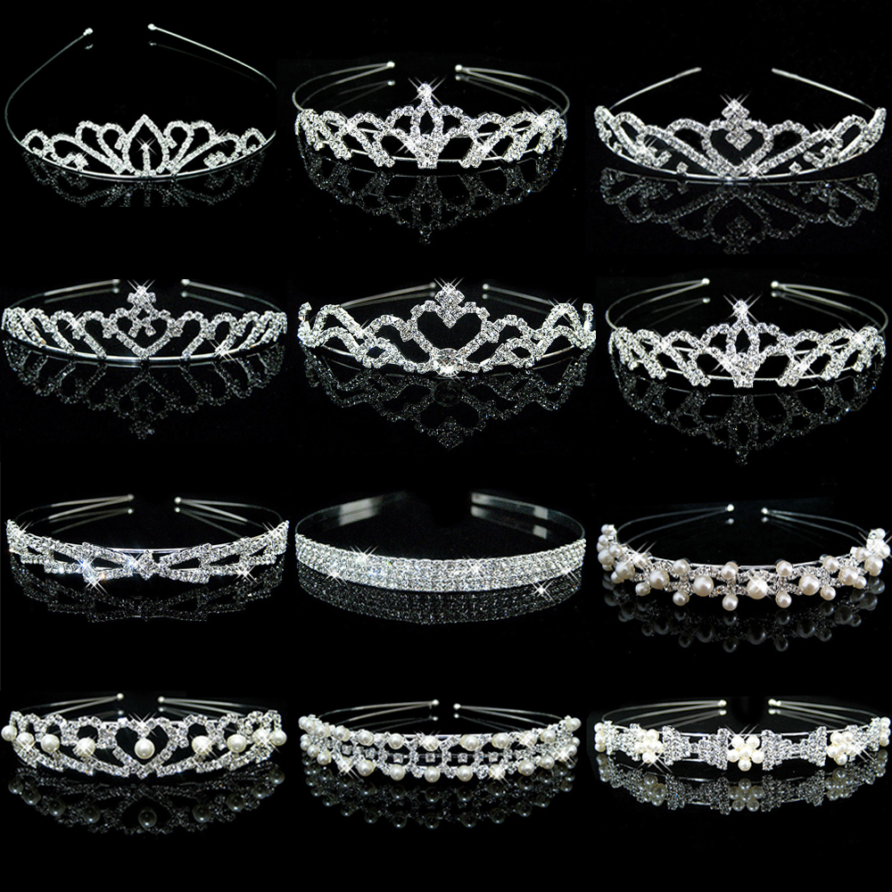 Okdears Princess Crystal Tiaras And Crowns Headband Kid Girls Love Bridal Prom Crown Wedding Party Accessiories Hair Jewelry