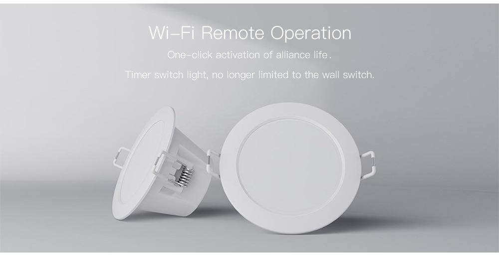 Original xiaomi mijia smart downlight work with mi home app smart remote control white & warm light phone smart change light