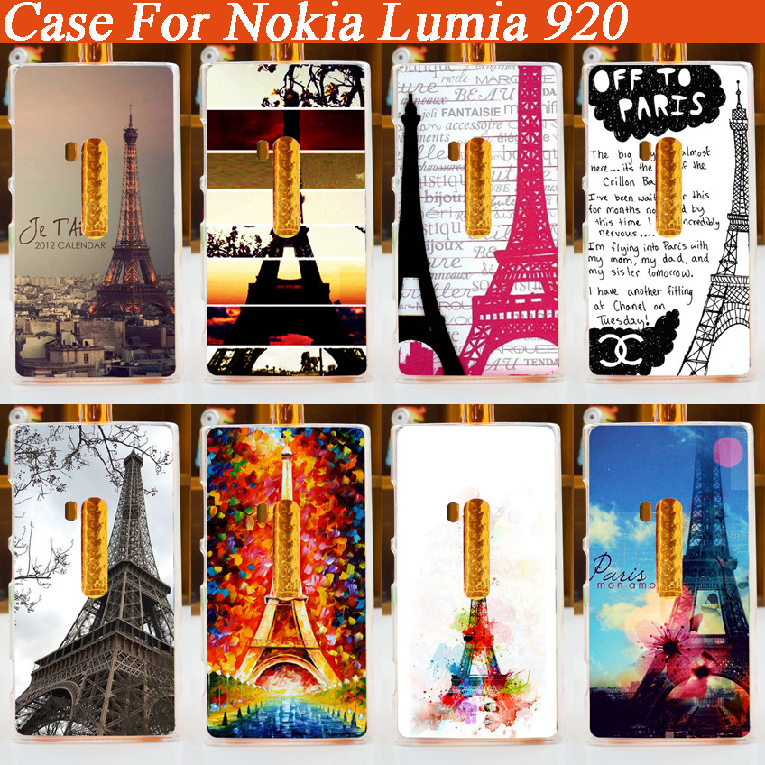 9 Patterns for nokia lumia 920 Case Cover Colored Painting Eiffel Tower Case for nokia lumia 920 Case image