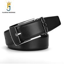FAJARINA Quality Fashion Cowhide Black Genuine Leather Belts for Men Brand Strap font b Male b