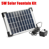 Garden Fountain 5W 500L/H Micro Solar Energy Fountain Pump Mini Water Pump For Pond Fountain Rockery Fountain Garden Decor