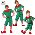 ROLECOS Brand New Men Christmas Halloween Costume Long Sleeve Green and Red Boy Elf Suit Christmas Costume for Kids Halloween