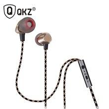 QKZ X36M Impactante Antirruido Auricular Con Micrófono de 7 MM chapado en Oro de Calidad de Sonido Enthusiast Auriculares Bass Cobre Forjado