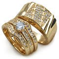 Set 18k Gold filled MENS WOMENS WEDDING ENGAGEMENT RING BAND R211,179 men size 9-15; women size 6-10