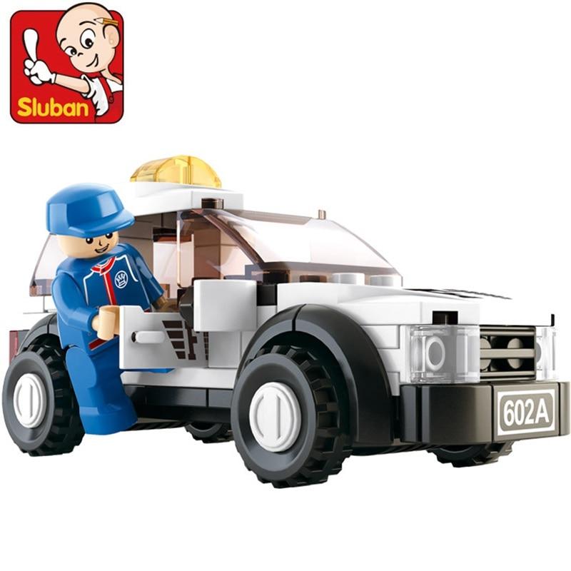 96Pcs Sluban 0350 Formula Car F1 Safety Car Figure Blocks Educational Construction Building Bricks Toys For Children