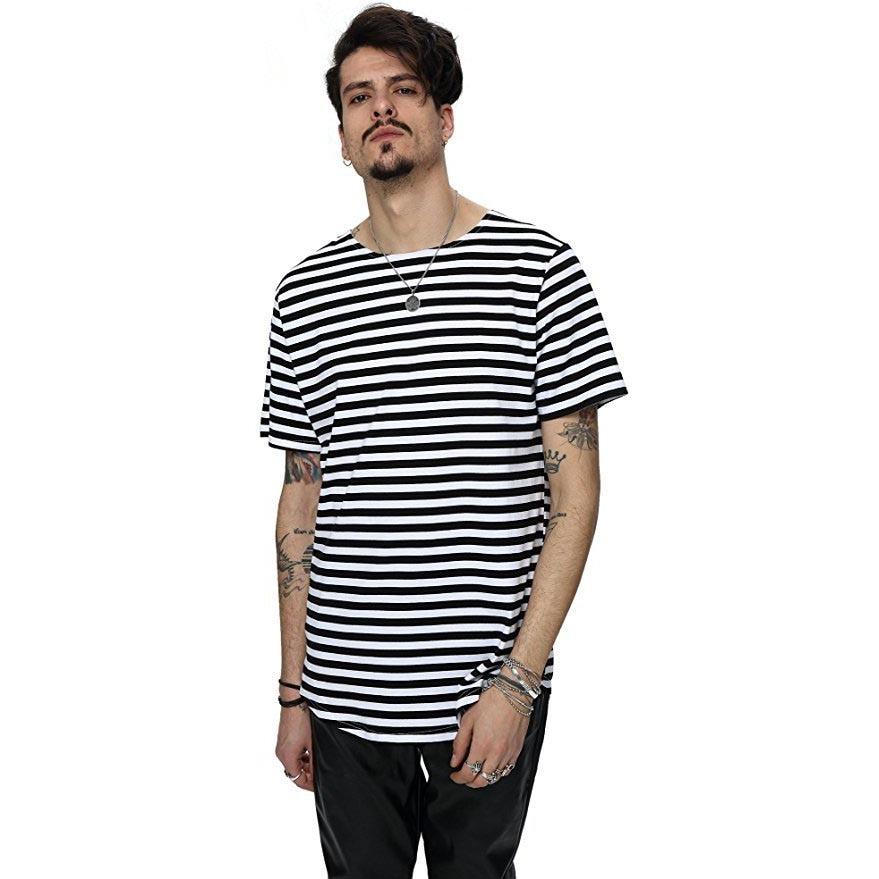 Nuevo 2018 calle de moda de verano camiseta de los hombres de la - Ropa de hombre - foto 2