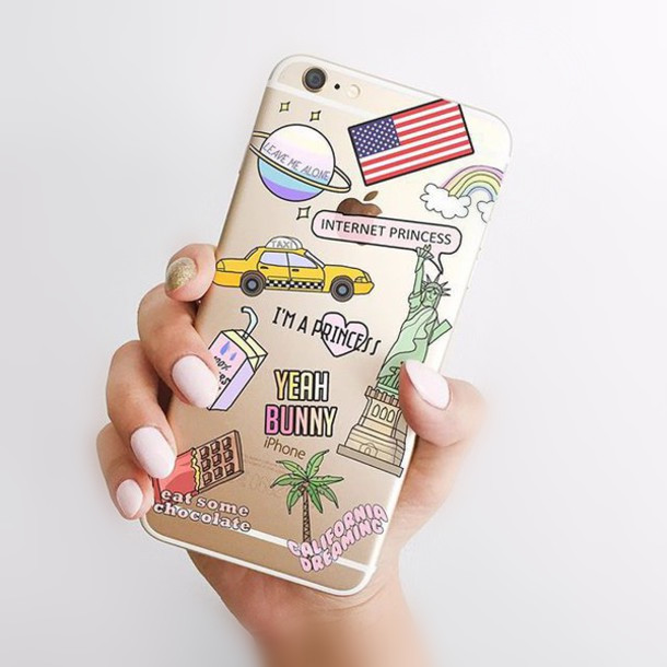 Yeah bunny case For iphone 5 5s se 6 6s 6Plus american flag american dream transparent case new york city