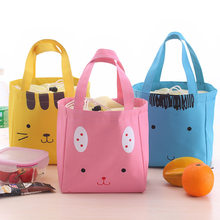 New Women&Man Lunch Bags Fashion Portable Insulated Japanese And Korean Hand-held Thick Insulated Lunch Boxes Small cooler Bags(China)