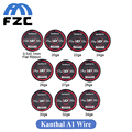 5lot Original 15ft UD Atomizer DIY Coil Clapton Wire 5m Kanthal A1 Clapton Wire for Electronic Cigarette Kanthal A1 Wire Heating
