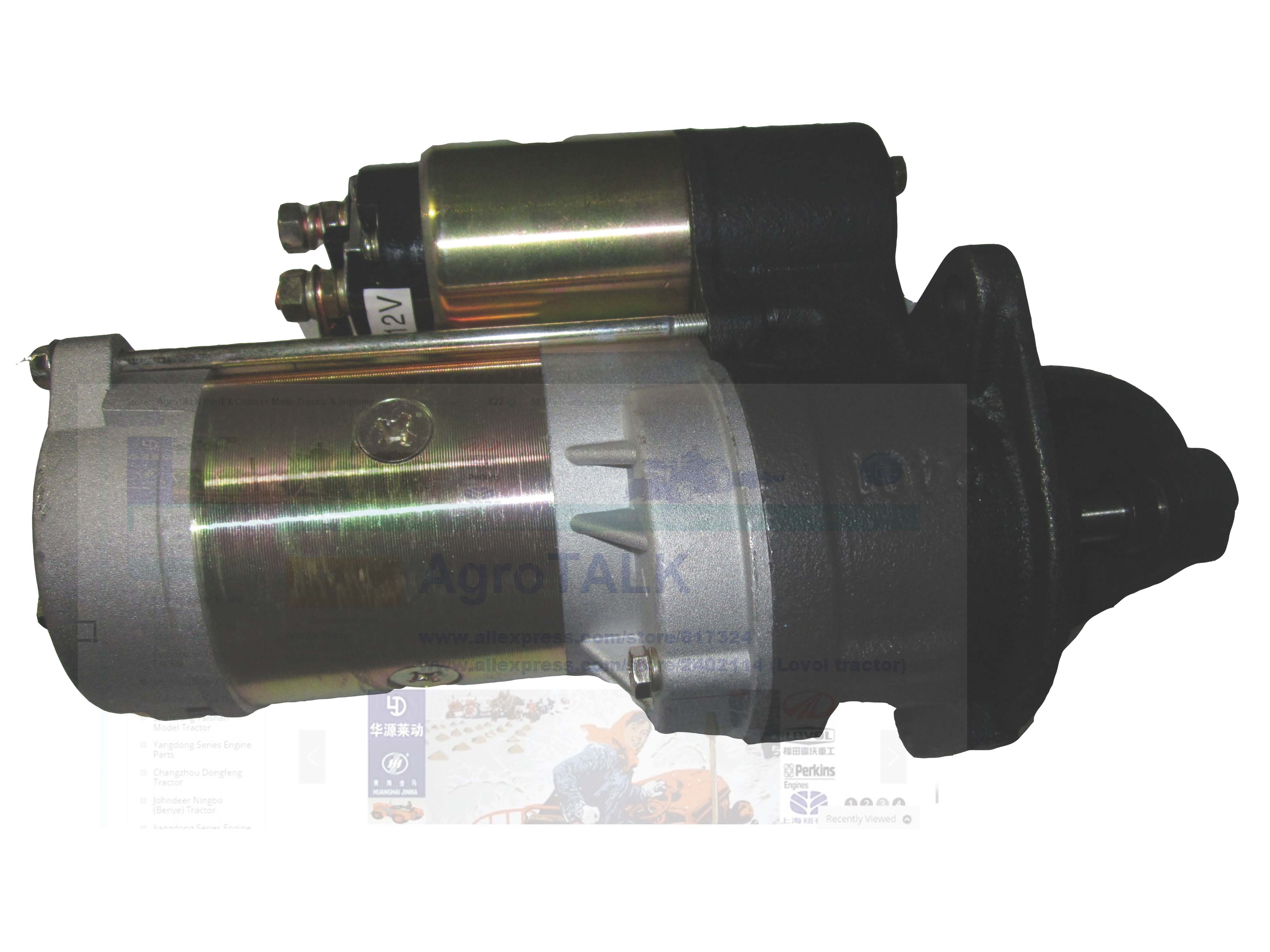 Shenniu Bison SN250/ SN254 / SN304 , the starter motor for HUBEI brand engine 295T/390T, part number: