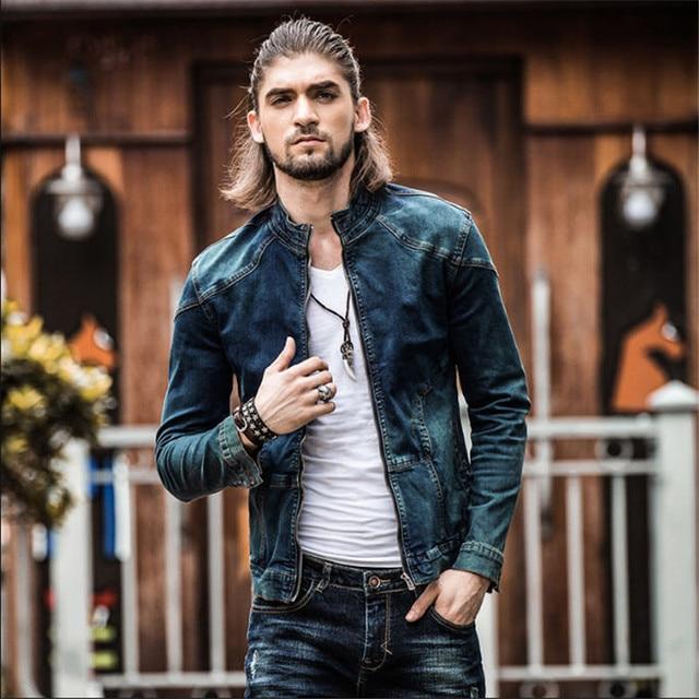 bc0a0901fb Brand-Clothing Men Jacket Slim Winter Fashion Mens Casual Cotton Denim  Jackets Plus Size Retro
