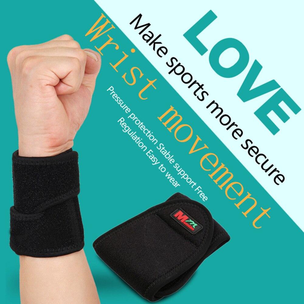 New C02 Mumian Monolithic Sport Gym Elastic Stretchy Wrist Guard Protecting Black Unisex Adjustable Tightness Wrist Brace