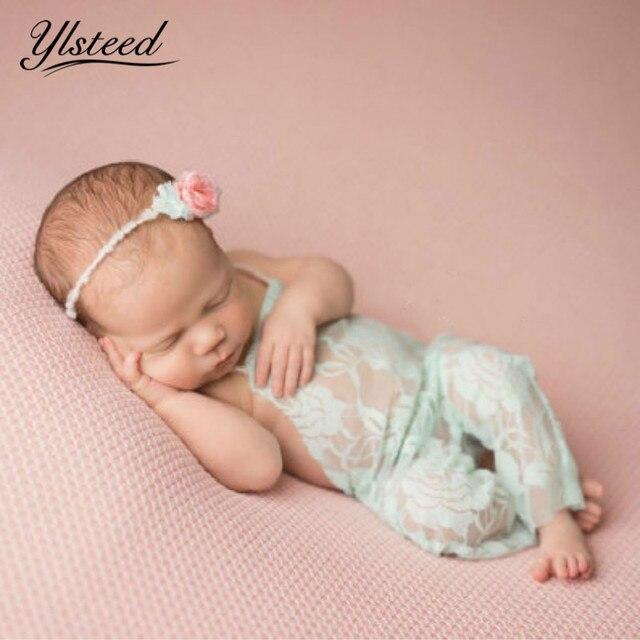 Детский кружевной комбинезон с цветочным рисунком, комбинезон для новорожденных, реквизит для фотосъемки, аксессуары для новорожденных мальчиков и девочек, реквизит для фотосессии