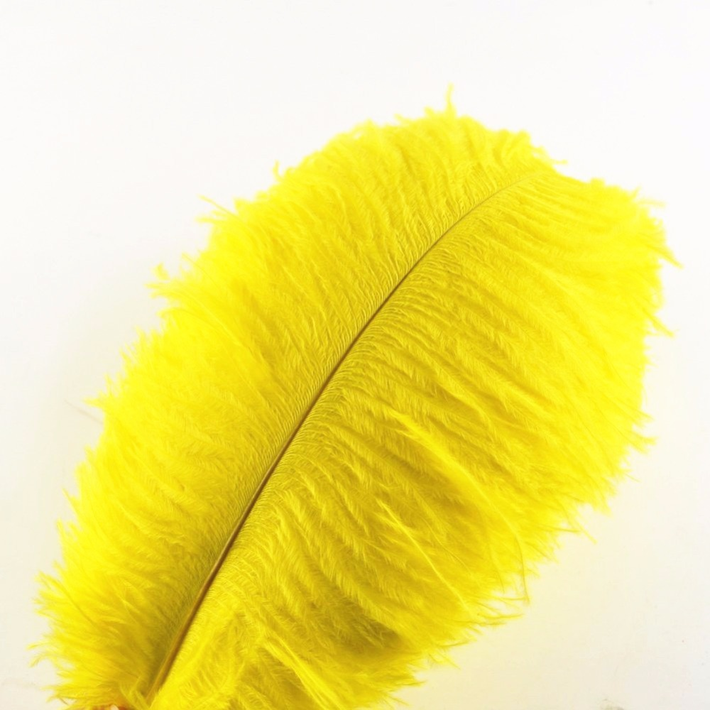 Crafts Weddings Yellow Marabou Feathers x 60 Sewing