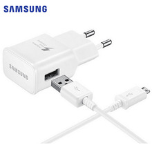 Original Samsung Fast Charger + 1.5M USB Data Cable For Samsung Galaxy Note 4 Note 5 S6 S6 Edge S7 S7 Edge Travel Wall Charger