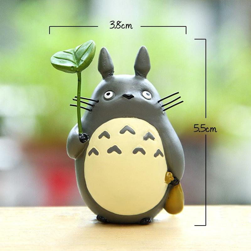 Totoro Con Hoja Figura Linda de Juguete Estudio Ghibli Miyazaki Hayao - Figuritas de juguete - foto 4