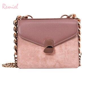 Image 3 - Luxury Handbag Retro Fashion lady Square bag 2020 New Quality PU Leather Womens Designer Handbag Chain Shoulder Messenger Bags