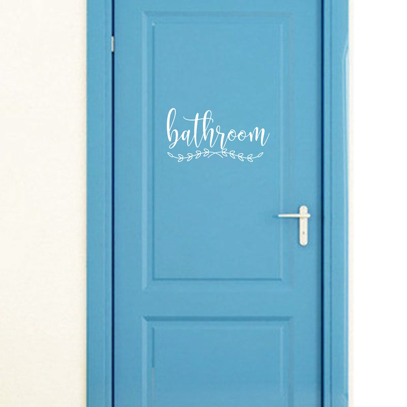 Bathroom Vinyl Art Wall Sticker Home Business Decor