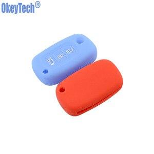 Image 3 - OkeyTech silikon araba anahtarı kapağı LADA Vesta için Granta XRay Kalina Priora Sedan Spor Renault için fit Benz Anahtar Vaka Koruyucu