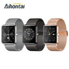 Buetooth smart watch z50 lujo hombres mujeres wristband apoyo sim tf usable dispositivos deportivos smartwatch para apple android pk gt08