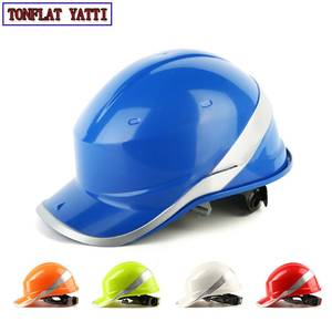 Safety Helmet Construction-Site Work-Cap Hard-Hat Protect with ABS New Phosphor Stripe