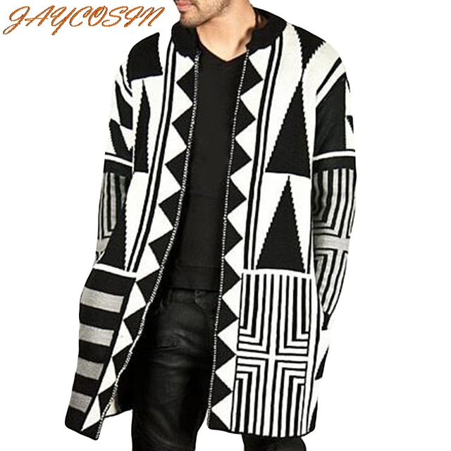JAYCOSIN Hot High Quality Fashion Design Men's Autumn Winter Fashion Trend Personality Black White Grey Stitching Coat New