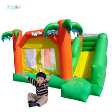 Tropical Bounce House Combo Inflatable Bouncy Obstacle Inflatable Bouncer For Kids