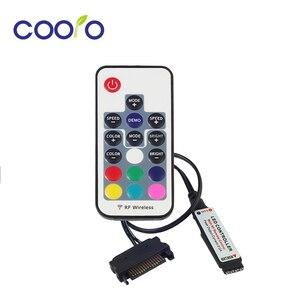 Image 1 - 12V SATA RGB denetleyici RF uzaktan kumanda PC için LED şerit