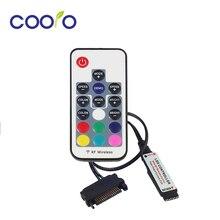 Controle remoto 12v sata rgb rf, controle remoto para caixa de pc com faixa led