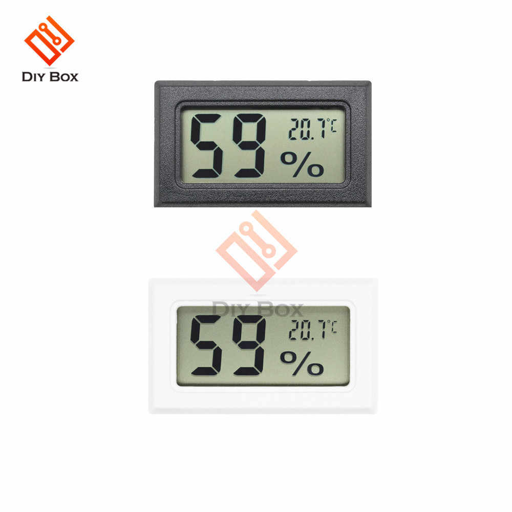 DC Mini LCD Digital Temperature and Humidity Sensor Meter Detector Thermometer Hygrometer Built-in Probe Power by 3V Battery
