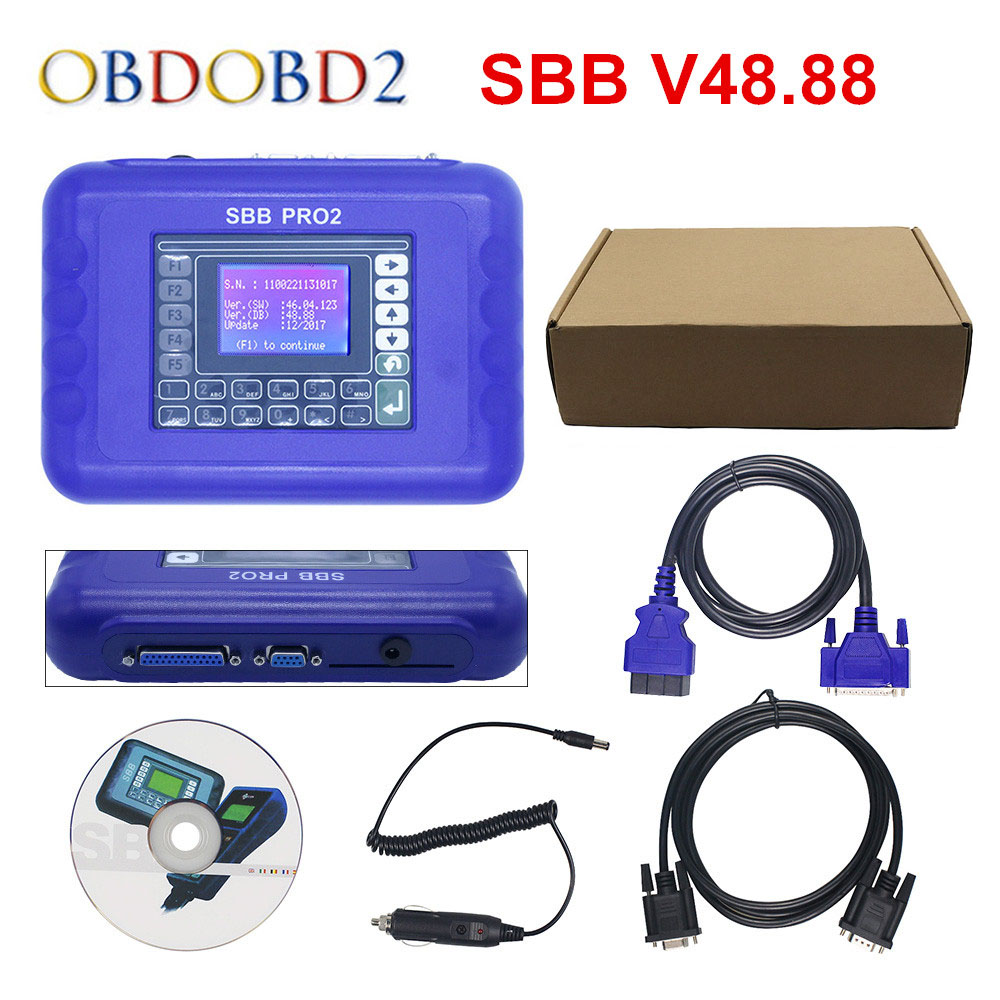 Newest V48.88 SBB Pro2 Auto Key Programmer Support New Cars to 2017 SBB 48.88 Better Than V46.02 SBB Key Maker Free Shipping 2017 newest ak90 key programmer ak90 pro key maker for b m w all ews version v3 19 plus ak90 with free shipping