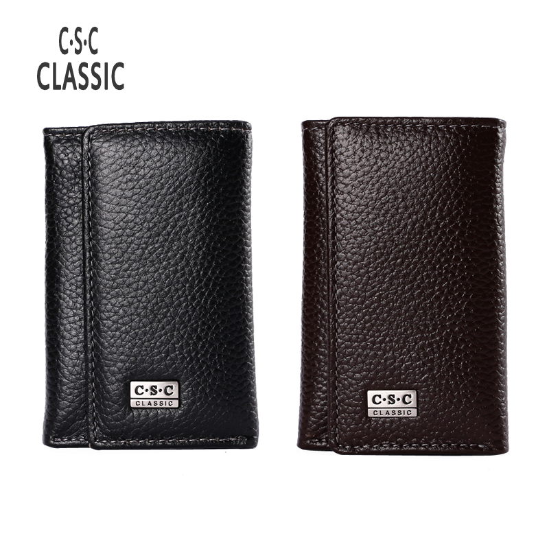 Famous Brand Men Wallets Leather Genuine card holder Head layer cowhide Thin purse bags male coin Wallet money sale