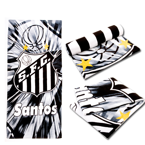 Football Campeonato Brasileiro Santos outdoor ride autumn and winter sports towel beach towel bath towel