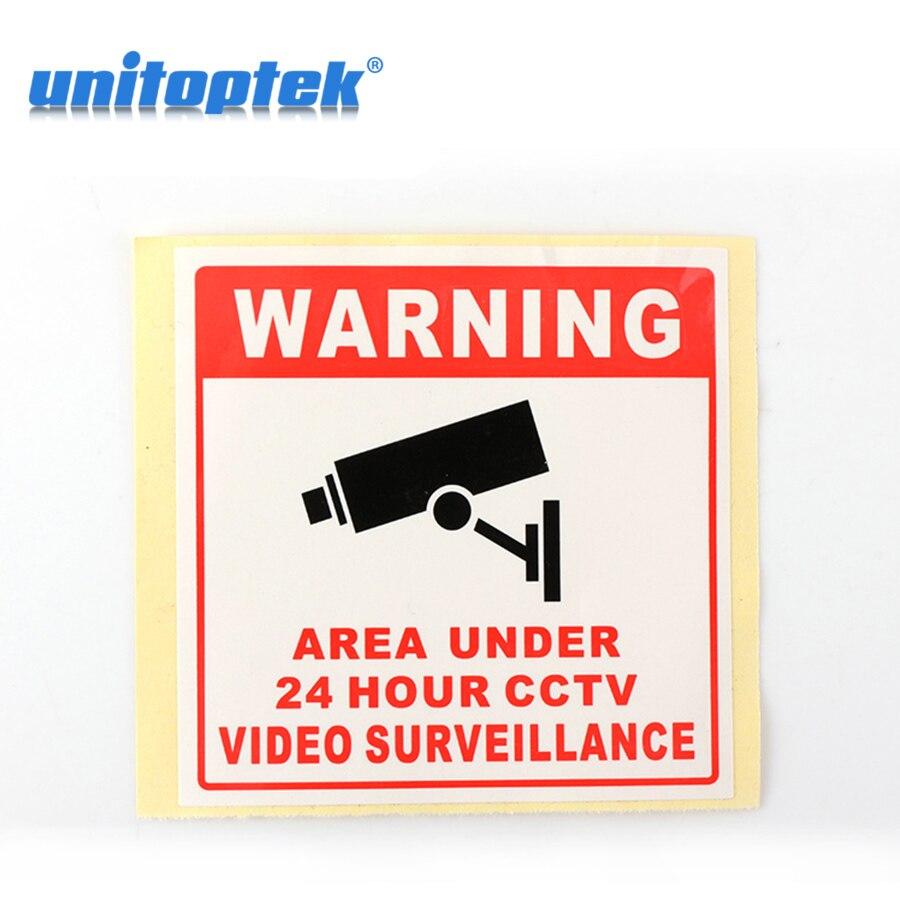 20 шт. Предупреждение доска контролируется видео Камера 80*80 мм видеонаблюдения Камера пропуск знак Водонепроницаемый