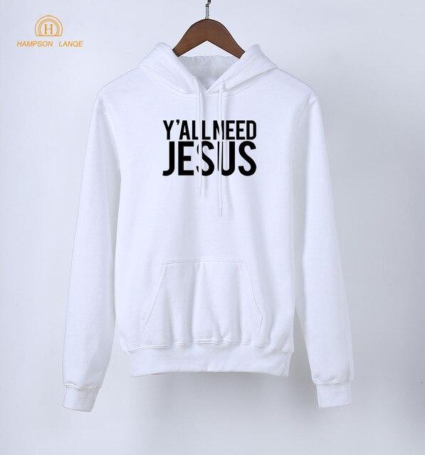 HAMPSON LANQE  Super Jesus Christian Hoodies For Women 2020 Spring Autumn Sweatshirts Fleece Long Sleeve Pullovers Streetwear 6