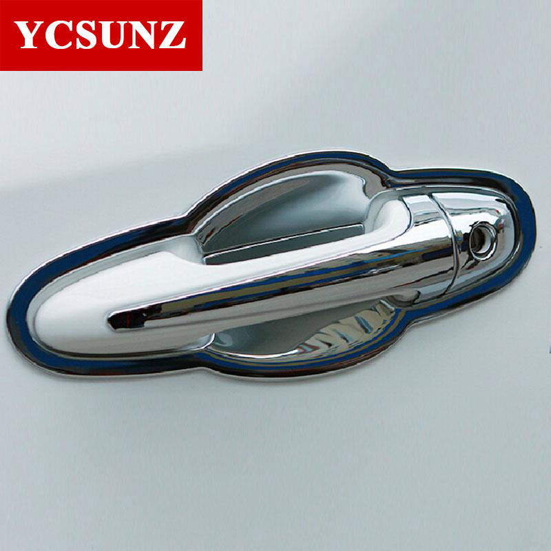 2014 2015 Car Styling For Toyota Rav4 Accessories Abs Chrome Door Handle Insert For Toyota Rav4